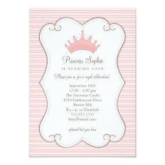 Invitación de la corona del rosa de la fiesta de