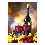 Invitación de la cosecha del vino invitación 12,7 x 17,8 cm