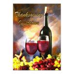 Invitación de la cosecha del vino de la acción de invitación 12,7 x 17,8 cm