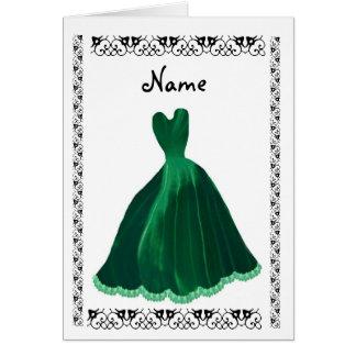 Invitación de la DAMA DE HONOR - vestido del Tarjeta De Felicitación