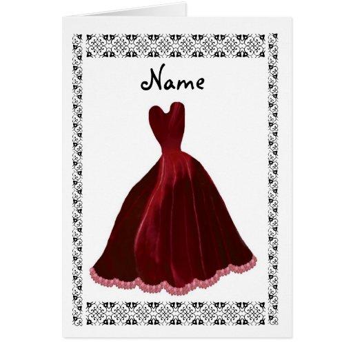 Invitación de la DAMA DE HONOR - vestido RICO del Tarjeta De Felicitación