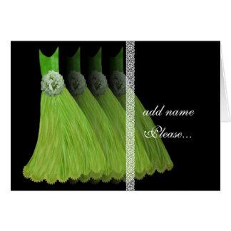 Invitación de la dama de honor - vestidos de la ve tarjetas