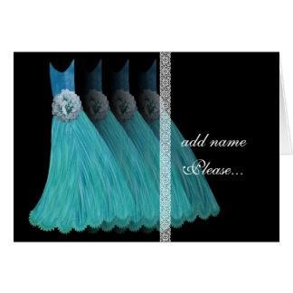Invitación de la dama de honor - vestidos de las a tarjetón