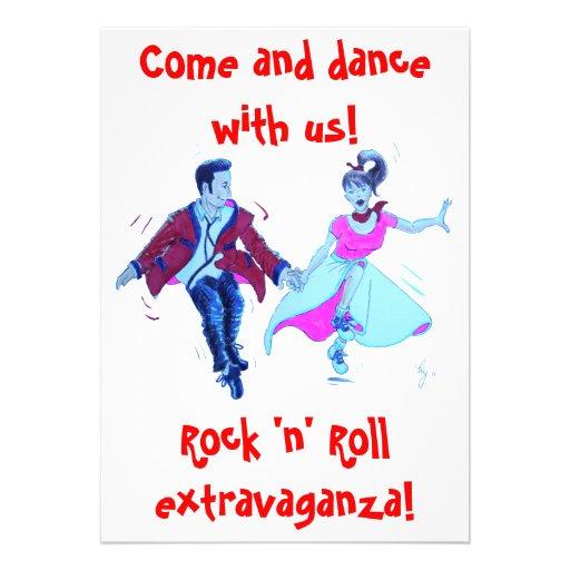 invitación de la danza del rock-and-roll del oscil