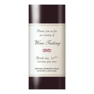 Invitación de la degustación de vinos