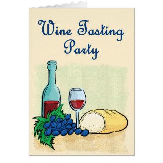 Invitación de la degustación de vinos tarjeta de felicitación