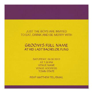 Invitación de la despedida de soltero de Ganesh Invitación 13,3 Cm X 13,3cm