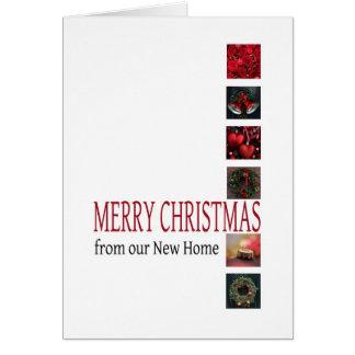 Invitación de la dirección del navidad del collage tarjetas