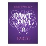 Invitación de la diva de la danza invitación 12,7 x 17,8 cm