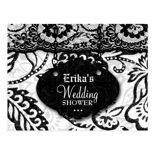 INVITACIÓN de la DUCHA 311-WEDDING Postal