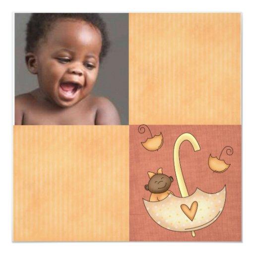 invitación de la ducha de la adopción