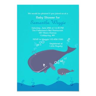 Invitación de la ducha de la ballena de la madre y