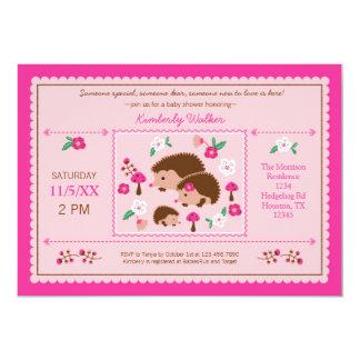 Invitación de la ducha de la niña de la familia invitación 12,7 x 17,8 cm