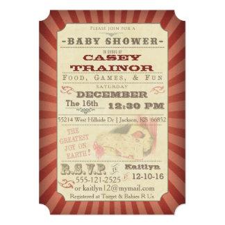 Invitación de la ducha de la niña del boleto del