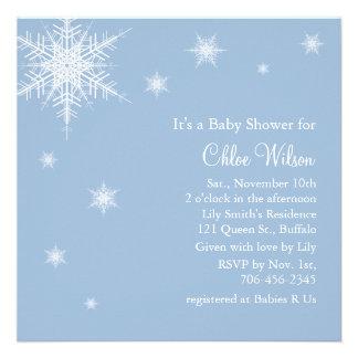 Invitación de la ducha de los copos de nieve de lo