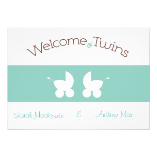 Invitación de la ducha de los gemelos