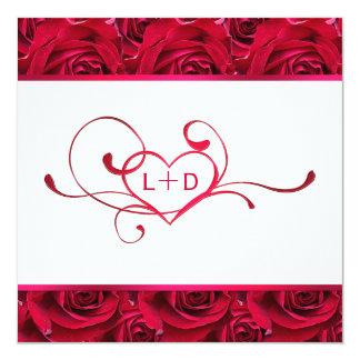 Invitación de la ducha de los pares de los rosas invitación 13,3 cm x 13,3cm
