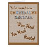 Invitación de la ducha de UnBridaled Tarjeta Pequeña