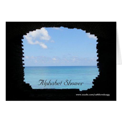 Invitación de la ducha del alfabeto tarjeta de felicitación