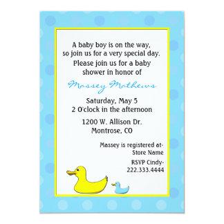 Invitación de la ducha del bebé de los patos