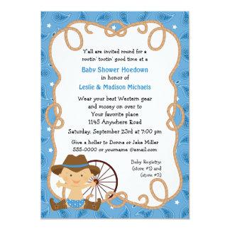 Invitación de la ducha del bebé del Hoedown Invitación 12,7 X 17,8 Cm