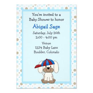 Invitación de la ducha del bebé del perrito del invitación 12,7 x 17,8 cm