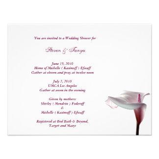 Invitación de la ducha del boda de la cala