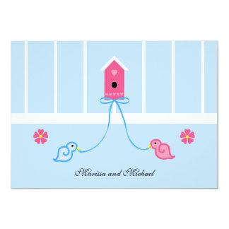 Invitación de la ducha del boda de los pares de