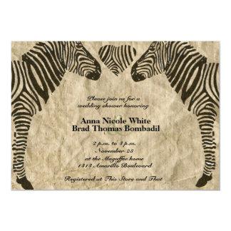 Invitación de la ducha del boda de papel del invitación 12,7 x 17,8 cm