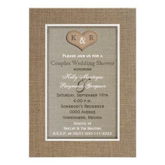 Invitación de la ducha del boda del Coed de los pa