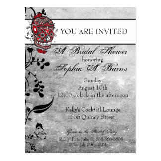 Invitación de la ducha del diseño del tatuaje del postal