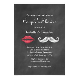 Invitación de la ducha del par del bigote y de los