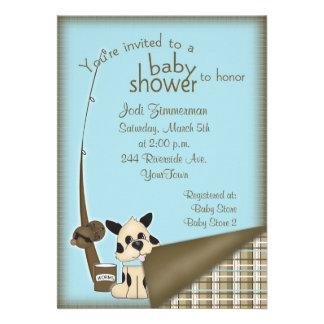 Invitación de la ducha del pescador del bebé