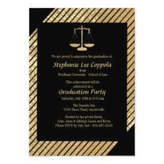 Invitación de la escala de la justicia del oro