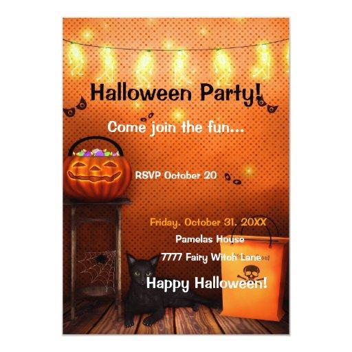 Invitación de la escena de Halloween