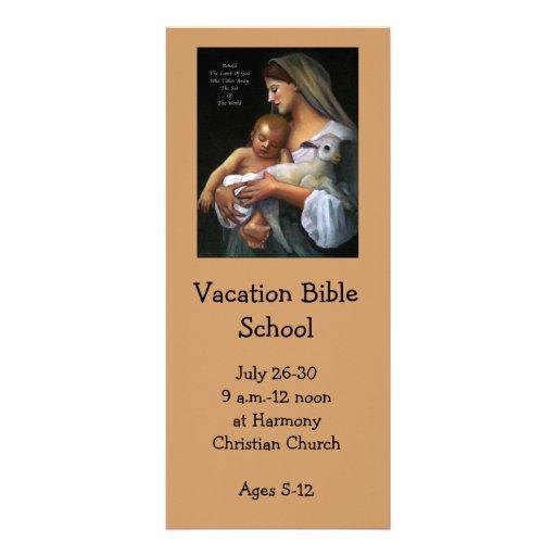 INVITACIÓN DE LA ESCUELA DE LA BIBLIA DE LAS VACAC LONA PUBLICITARIA
