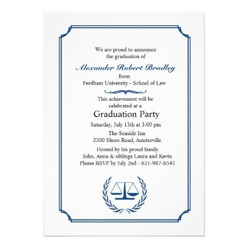 Invitación de la esquina de la graduación de los a