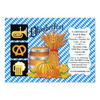 Invitación de la estación de Oktoberfest Invitación 12,7 X 17,8 Cm