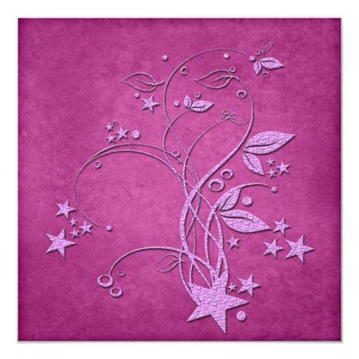 Invitación de la estrella y de las hojas