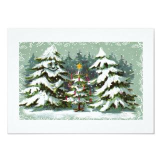 Invitación de la familia del árbol de navidad