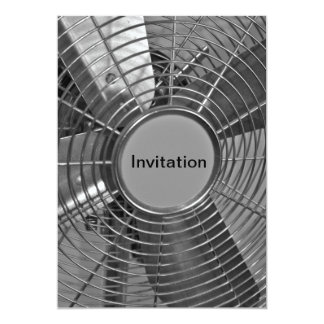 Invitación de la fan del acero inoxidable