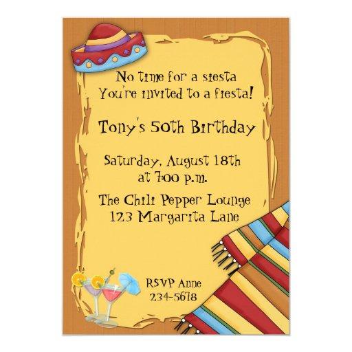 Invitación de la fiesta