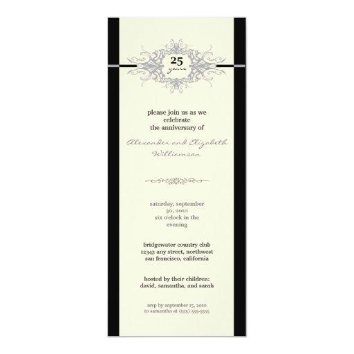 Invitación de la fiesta de aniversario de Nouveau