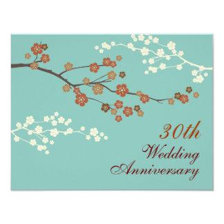 Invitación de la fiesta de aniversario del flor