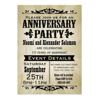 Invitación de la fiesta de aniversario del país de
