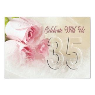 Invitación de la fiesta de aniversario por 35 años invitación 12,7 x 17,8 cm