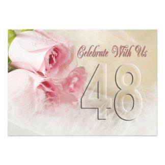 Invitación de la fiesta de aniversario por 48 años