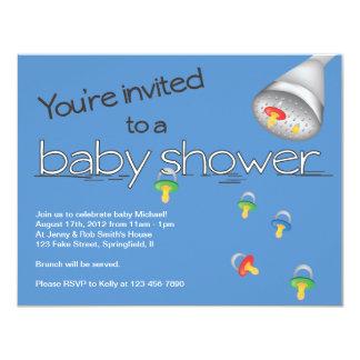 Invitación de la fiesta de bienvenida al bebé - invitación 10,8 x 13,9 cm