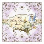Invitación de la fiesta de bienvenida al bebé - invitación 13,3 cm x 13,3cm