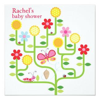 Invitación de la fiesta de bienvenida al bebé invitación 13,3 cm x 13,3cm